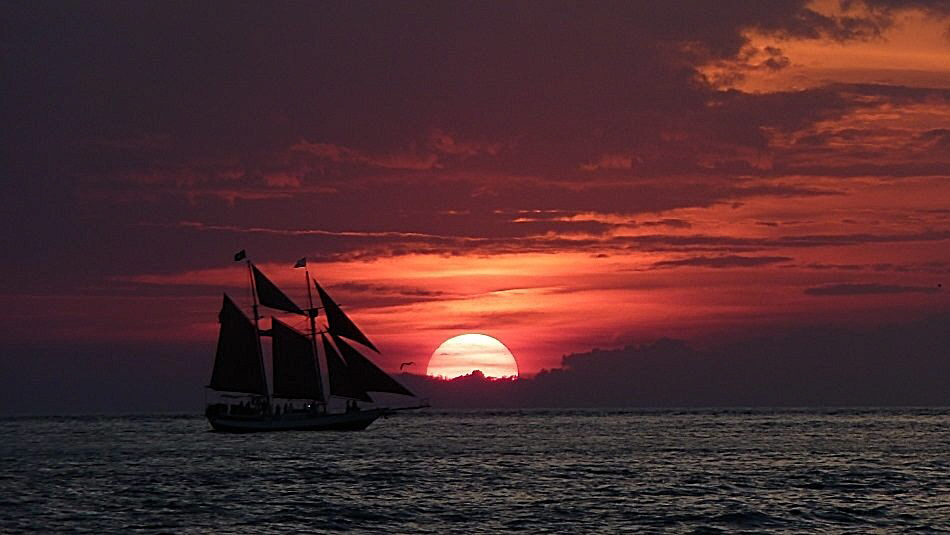 Kitschiger Sonnenuntergang in Key West